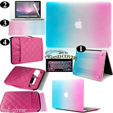 Rainbow  Rubberized Hard Case Carrying Bag Keyboard Cover For Apple Macbook