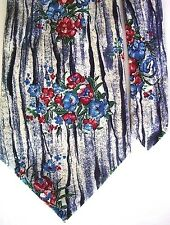 "Lucarelli Men's 100% Silk Floral Neck Tie Red Blue Classic 4"" x 57"""