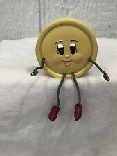 Wmg Anthrogomorphic Face Sewing Craft Shelf Sitter Figurine-Button
