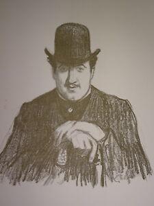 Henry BATAILLE 1872-1922 LITHO PORTRAIT EDMOND SEE BAYONNE CRITIQUE THEATRE 1901