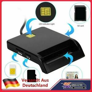 USB 2,0 Chipkartenleser SIM ID Kartenleser Personalausweis Lesegerät Reader Box