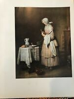 "National Gallery of Art, Chardin ""The Attentive"" Print, 11"" x 14 1/2"" (Paper)"