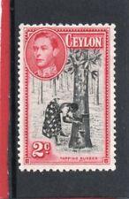 Ceylon GV1,1938-49 2c black & carmine sg 386 HH.Mint