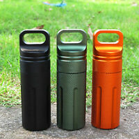 BIG Waterproof Pill Box Case Holder Container Metal Size Travel Bottle g Ca E6N6