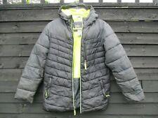 Boys CHAMPION - VENTURELOFT Neon Green/ Black Kids Winter Puffer Coat - 12-14