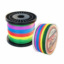500M 100LB Multicolor Strong Braided Fishing Line 4 Strands 100% PE Fishing Line