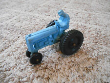 """Old Vintage Toy Auburn Rubber USA Tractor Truck Farm Vehicle w/ Driver Blue 4"""""""