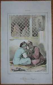 1838 print ARMENIAN BISHOP RECEIVING CONFESSION (#28)