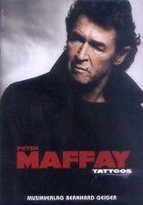 Peter Maffay Tattoos Das Beste The Best of Songbook Noten