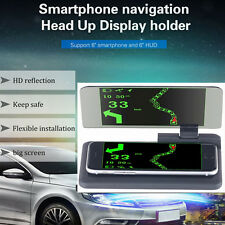 "6"" Screen Car GPS Navigation HUD Head Up Display Projector Mobile Phone Bracket"