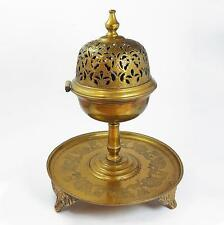 Large OTTOMAN EMPIRE Gilt Brass INCENSE BURNER 19th Century TURKISH