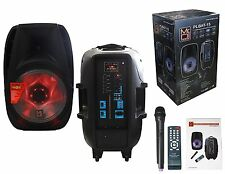 Mr. Dj PLBAT-15 15-Inch 3000 Watt Max Power Speaker with Built-In Bluetooth & Ba
