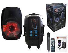 Mr. Dj PLBAT-15 15-Inch 3000 Watt Max Power Speaker with Built-In Bluetooth & Ba