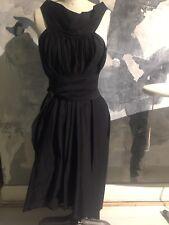 Rick Owens Black Draped Dress w/ Belt Size 42