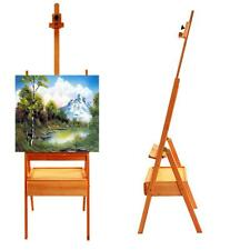 Durable French Easel Stand Wooden Sketch Box Portable w/ Dispaly Artist Painters