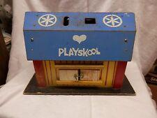 Vintage Playskool LOCK UP BARN Play Set 452 Shapes toy wood