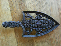 Vintage Cast Iron Trivet  Sad Iron made by Wilton
