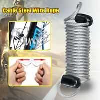 1m Adjustable Cable Steel Wire Rope Loop For Outdoor Sport Bike Lock  /
