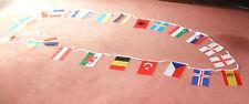 EUROPEAN BUNTING 22 FEET 24 flags EUROPEAN Country Flags