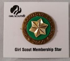 Girl Scout Membership Star Pin plus Special Year 2000 Millennium Disc Backing