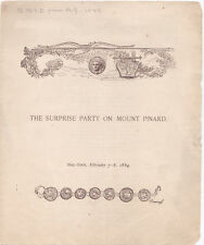 RARE 1884 THE SURPRISE PARTY ON MOUNT PINARD - SIGNED by CLARENCE CLOUGH BUEL
