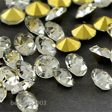 200pcs Diamond Crystal Grade A Glass Pointed Back Rhinestone Cabochons 2.5mm