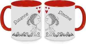 Tassen Twinset rot - Frauenpärchen