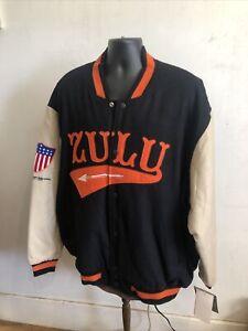 Rare NWT 4XL  Jacket Negro League Baseball Zulu Cannibal Giants JCF and Sons