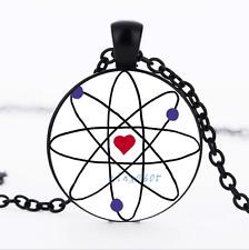 Science Love Black/Bronze/Tibet silver Glass Dome chain Pendant Necklace
