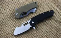 New CNC Stone Wash D2 Blade Fast Opening G10 Handle Pocket Folding Knife VTF97