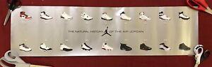 """Vintage Nike Air Jordan Natural History of the Air Jordan Poster 30""""x 8"""" - Rare"""