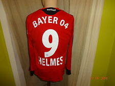 Bayer 04 Leverkusen ADIDAS Manica Lunga Maglia Matchworn 2008/09 + N. 9 Casco Taglia L