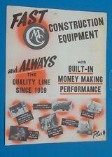 Vintage Construction Equipment Mailer Machinery Waterloo Iowa Mixers Pumps Saws