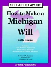 How to Make a Michigan Will: With Forms (Self-Help Law Kit)-ExLibrary