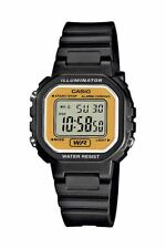 Casio Collection Damenurh Kunststoff Schwarz Datum Digital LA-20WH-9AEF