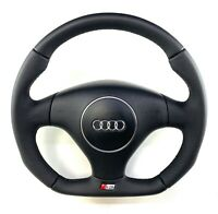 Full Reshaped Flat Bottom Steering Wheel Audi A3 S3 8L FACELIFT !