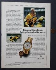 Indy 500 Owner Roger Penske signed autographed 1989 Rolex Magazine ad photo!*