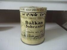 VINTAGE ADVERTISING  Balkan Sobranie Tobacco 4 oz  ESTATE FIND EMPTY