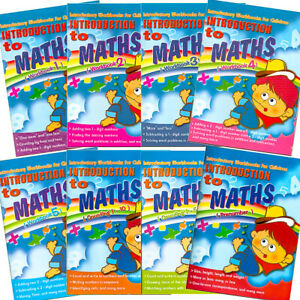 Pre School 8 Activity Workbooks Maths Add Subtract Time Learn Write Read Numbers