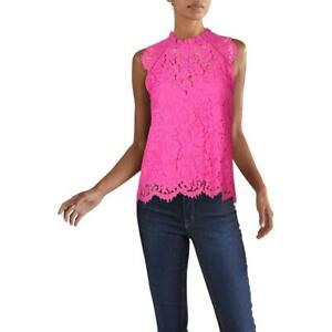 Generation Love Womens Stefi Pink Lace Scalloped Top Shell XS BHFO 4277
