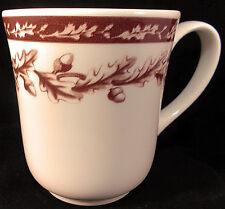 Wedgwood Plymouth Coffee Mug Williams Sonoma England Oak Leaf Acorns Demitasse