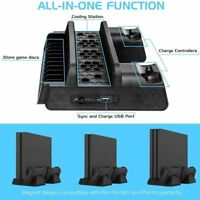 Vertical Cooling Fan Stand with Dual Controller Charger For PS4/PS4 Slim/PS4 Pro