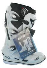 RARE UFO PLAST HERO, MOTOCROSS/ENDURO MX BOOTS, WHITE/BLACK, (SIZE UK 9)