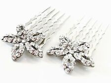 USA Mini Hair Comb Small Swarovski ELMT Crystal Bridal Wedding Star Clear Party