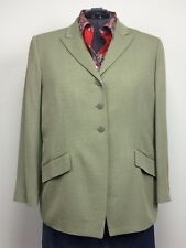 NWT $465 Linda Allard Ellen Tracy 22 Sage Green/Gray Tweed Blazer Jacket Plus Sz