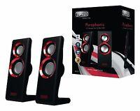 Highend Lautsprecher System 2.0 Design schwarz PC Computer Box Boxen Soundsystem