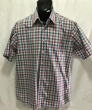 Rodd & Gunn Men's Button Up Short Sleeve Shirt  Red Checked Size M Original Fit