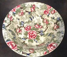 Early 20thC Leighton Pottery Chinese Rose pattern bowl