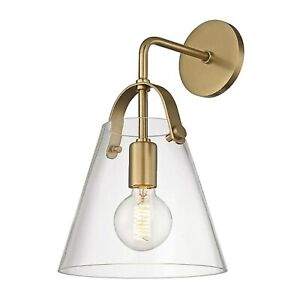 Hudson Valley Mitzi Karin 1-Light Aged Brass Wall Sconce H162101-AGB