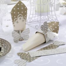 10 GOLD BUTTERFLY NAPKIN RINGS REVERSIBLE DESIGN WEDDING TABLE DECORATION  NEW